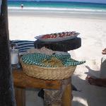 Repas direct sur la plage Kin ha playa!!
