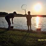 Crabbing at sunset.