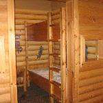 The kids log cabin