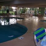 Indoor pool & hot tub area