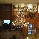 Looking down on the lobby area.