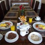 daily breakfast at the villa