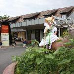 Gurkenkönigin im Rondel vor dem Eingangsbereich