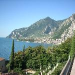 View of Limone sul Garda from the terrace