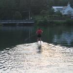 SUPing on Lake Chatuge just off our dock