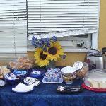 terrazzo della colazione abbondante e genuina