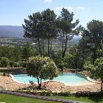 vue  imprenable panoramique sur la vallée et les montagne du vaucluse et du luberon