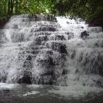view of the waterfalls on the property