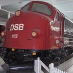 "1950s ""Nohab"" diesel locomotive at the Danish Railway Museum, Odense"