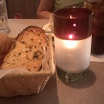 A touch of Candle light over Dinner with Italian Garlic Bread