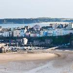 View of Tenby harbour from terrace of Park Hotel