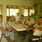 Este es el grupo de empleados muy buenos todos Pablo, Don Milton Don Abelardo, Max Natalia y do;