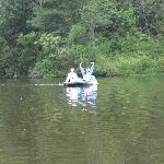 Pond can be explored with 3 paddle boats