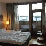 room with balcony