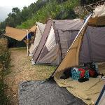 Area per tende da campeggio con vista panoramica su Minori e la costiera