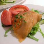 鮭とイクラのサラダ