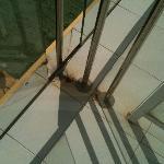 Balcony dirty and rusty
