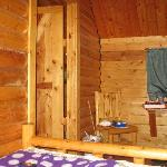 The inside of our two-room cabin.  Sleeps 6.