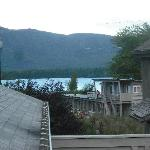 View of lake from deck outside room