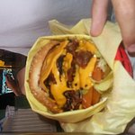 Look at that burger!!!!