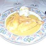 Pata Negra prawns in curry sauce