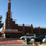 The Eldorado looks like an old fashioned movie theater on the outside.