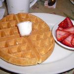 Waffle & Strawberries at Crystal