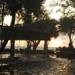 Pool 3 bei Sonnenuntergang
