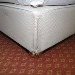 Bett im Topseezimmer 305