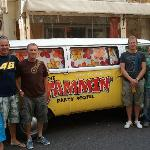 Boys with 'Jammin' camper