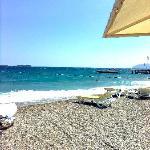the stone beach......ahi ahia... my feet !!