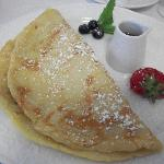 The delicious banana crepes