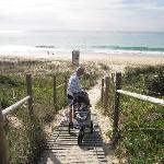 beach 5-10mins walk
