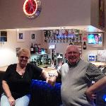 Cathy & Robert Paterson relaxing in the bar