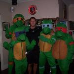 Craig with the Teenage Mutant Ninja Turtles