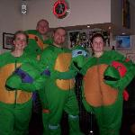 The Turtles before going round to the Winter Gardens  for the World Championship Darts