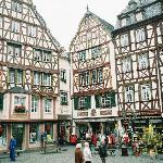 Timbered building in town