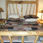 The country-cabin style bed