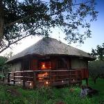 Elegant bush chalets at Shayamoya Game Lodge, Pongola