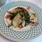 frois gras and duck breast salad