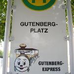 Gutenberg-Express, Station Gutenberg Platz