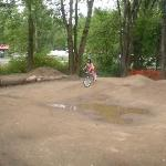 their dirt bike track for the kids