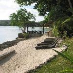 Beachside sun loungers