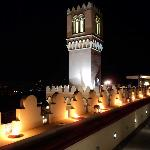 Roof terrace at night - Hotel El Jebel *****L Taormina