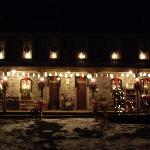 Entrance at Christmas time
