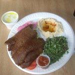gyro plate w/humus
