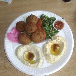 falafal plate w/ humus