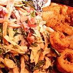 Ensalada de casa and calamari