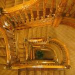 The elegant old staircase is worth skipping the elevator