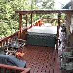 hot tub and grill on back deck